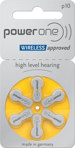 Varta Power One Gr. 10 Hörgerätebatterien 1,45 V 6er Blister PR70 Gelb 24610 p10