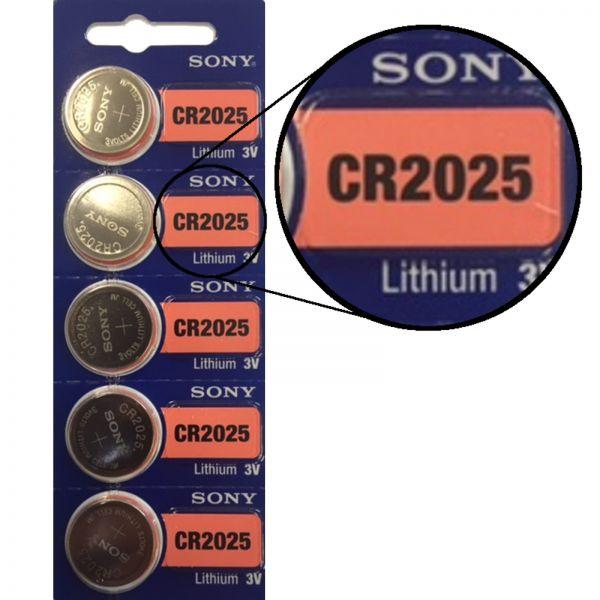 Sony E2226758 CR2025 5er Blister 3V Batterie Lithium Knopfzelle