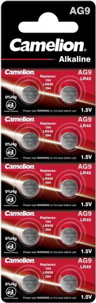 Camelion Alkaline Knopfzelle AG9 LR45 LR936 394 1,5 V 10er Blister AG9-BP10