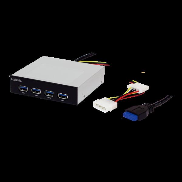 LogiLink USB 3.0 HUB 4-port, internal, alu