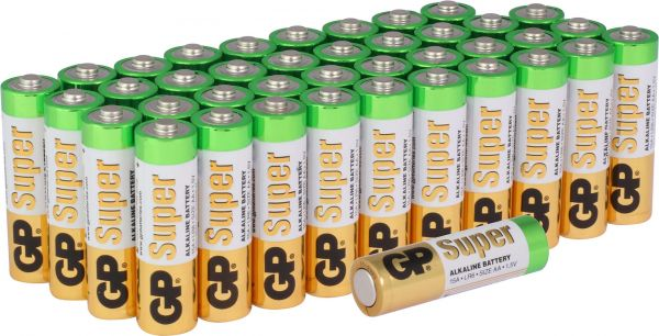 GP 2,5x Batteries Super Alkaline 16er Blister LR03, 8+8 AAA GPPCA24AS465 03024AB40