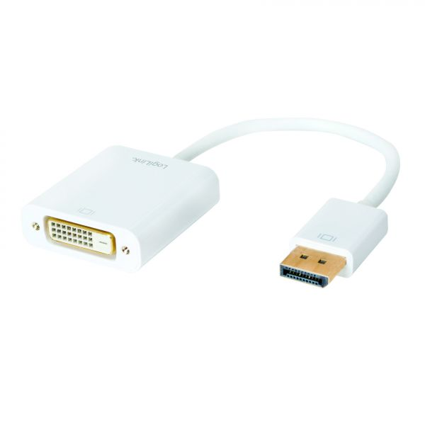 LogiLink Display Port 1.2 to DVI Active Adapter with 15cm cable
